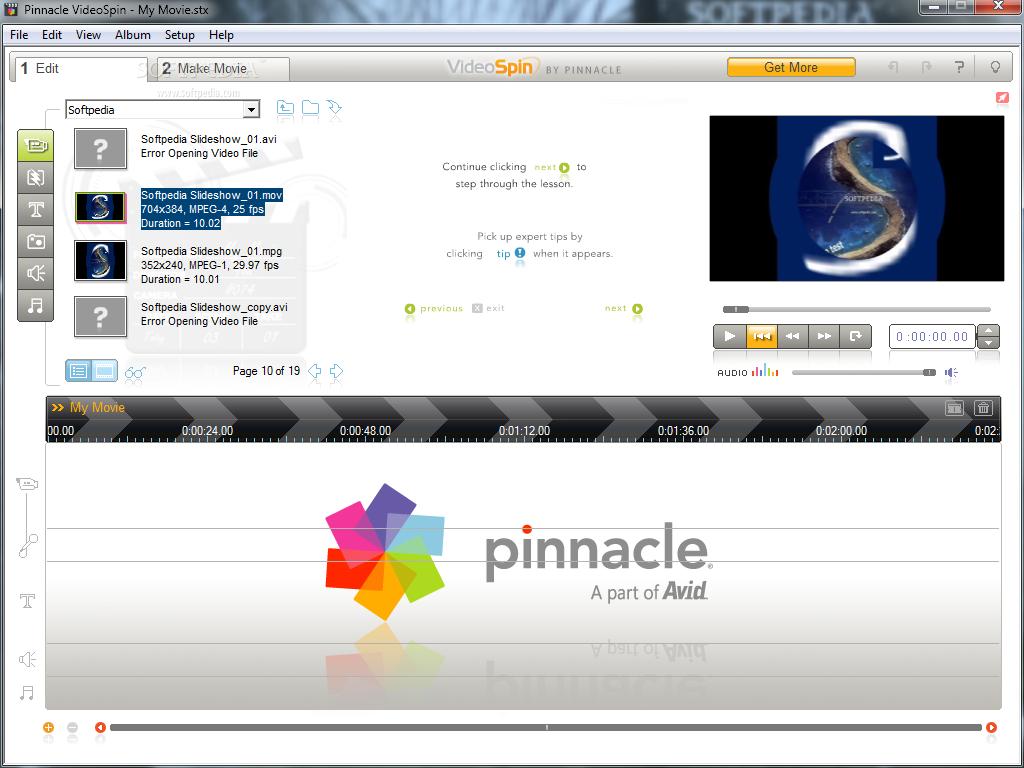 Pinnacle Video Spin